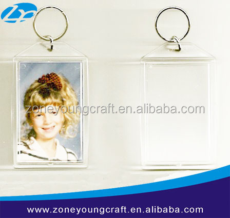 acrylic keychains promotion fancy key ring