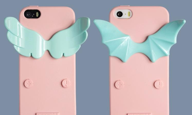 Angel and Devil Mobile Phone Back Cover