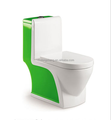 Bathroom products green colored one piece toilets color basin