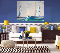 Room sofa decorative modern sailboat handmade oil painting picture
