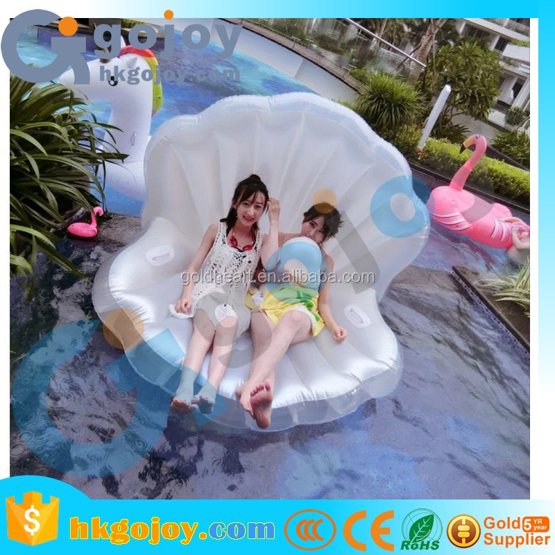 New 2017 Premium Water Play Equipment Inflatable Clam Seashell Float Swimming Pool Toys