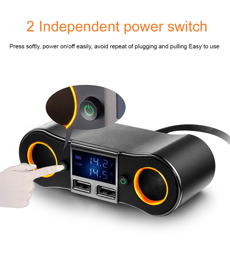 GXYKIT ZNB02 5v 2.5A dual port car charger