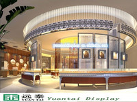 luxurious and charming shopping center jewelry display showcase kiosk