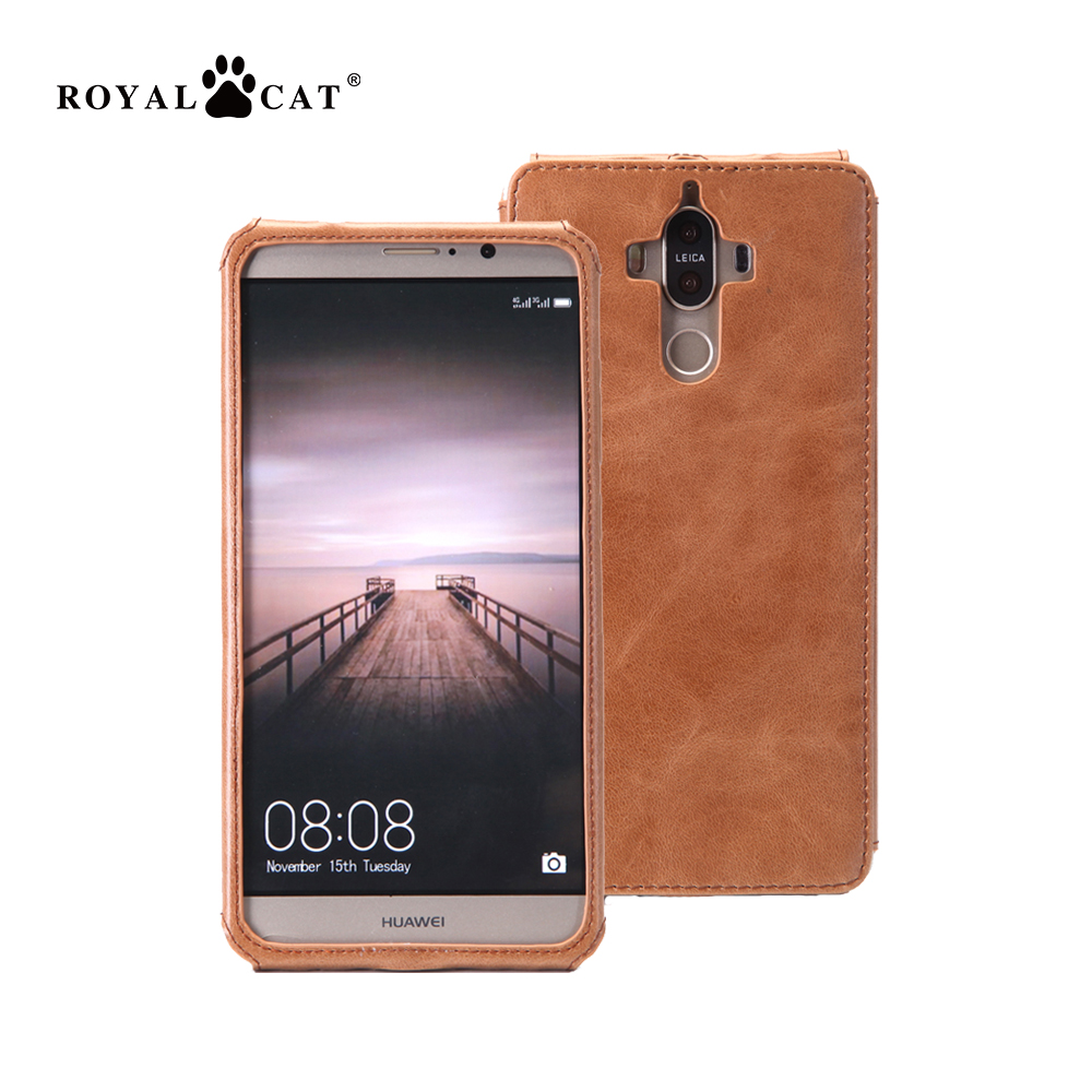 2017 trending products 100% grain leather phone cover for Huawei mate9 frame smart phone case
