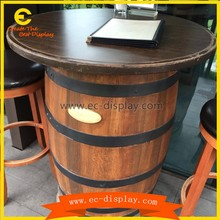 Unique Whiskey Wine Barrel wood coffee table/Wine Barrel Bistro Table