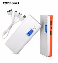 20000mah Capacity dual usb charger with lithium battery LCD screen to show remaining power
