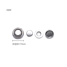 388#-6 17MM Alloy Snap Button Insert for 388#