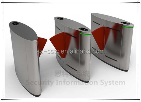 Quality Automatic optical etractable flap turnstile with fingerprint system