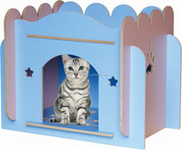 Carno pet wooden cat cage