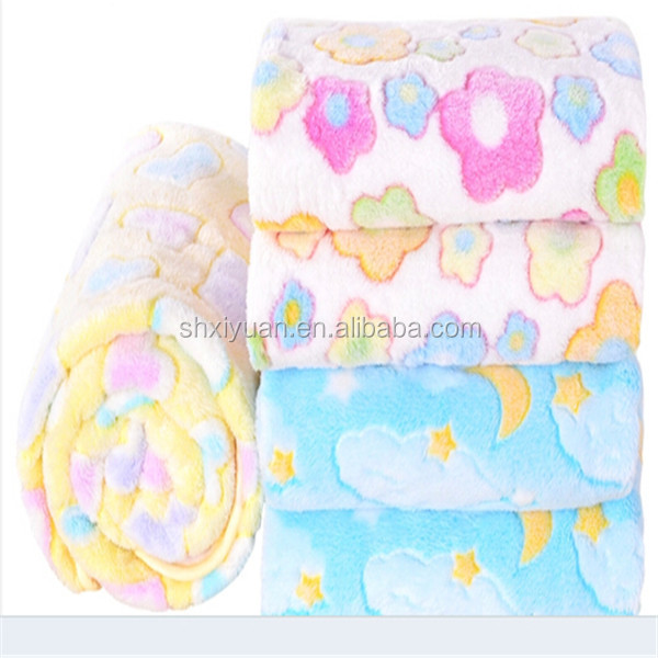 High quality cute Jacquard flannel baby blanket wholesale soft baby blanket