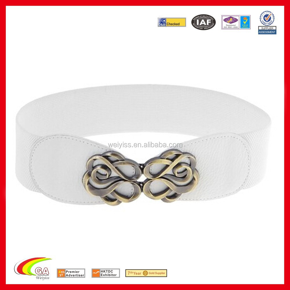 Metal Interlocking Buckle Stretch Band Leather belts for ladies, Leather belts for ladies manufacturers & suppliers