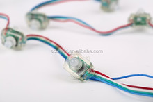 5V Square Shape Waterproof IP68, 12mm WS2801 RGB Pixel LED string