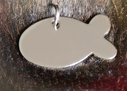 (SP0781) Wholesale fish shape stainless steel dog tag crafts for kids