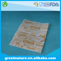 Logo printed wax paper for fast food