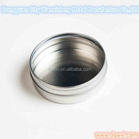 Round tin can with PVC window