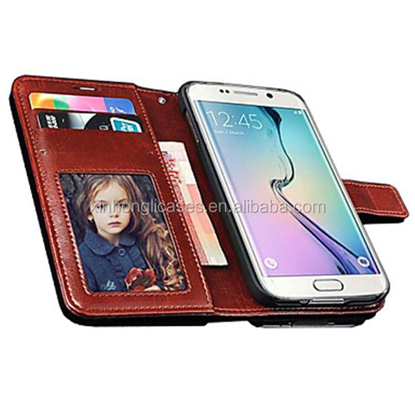 Vintage PU Leather Wallet Style Case for Samsung Galaxy S6