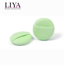 Shenzhen Liya beauty glove style organic cotton cosmetic powder puff
