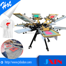 4 color 4 station 6 color 6 station 8 color manual t-shirt silk screen printing machine
