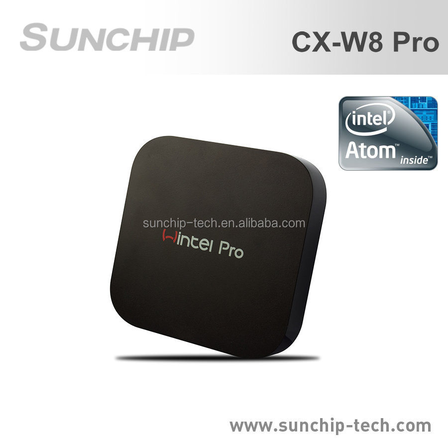 2016 Latest Wintel w8 pro 2gb 32 gb Win10 INTEL Z8300 mini pc tv box, model CX-W8 Pro from sunchip