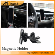 2017 newest design 360 degree rotation cd slot cell phone mount with quick release button magnetic phone holder