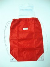 Red Eco cheapest polyester Draw string bag