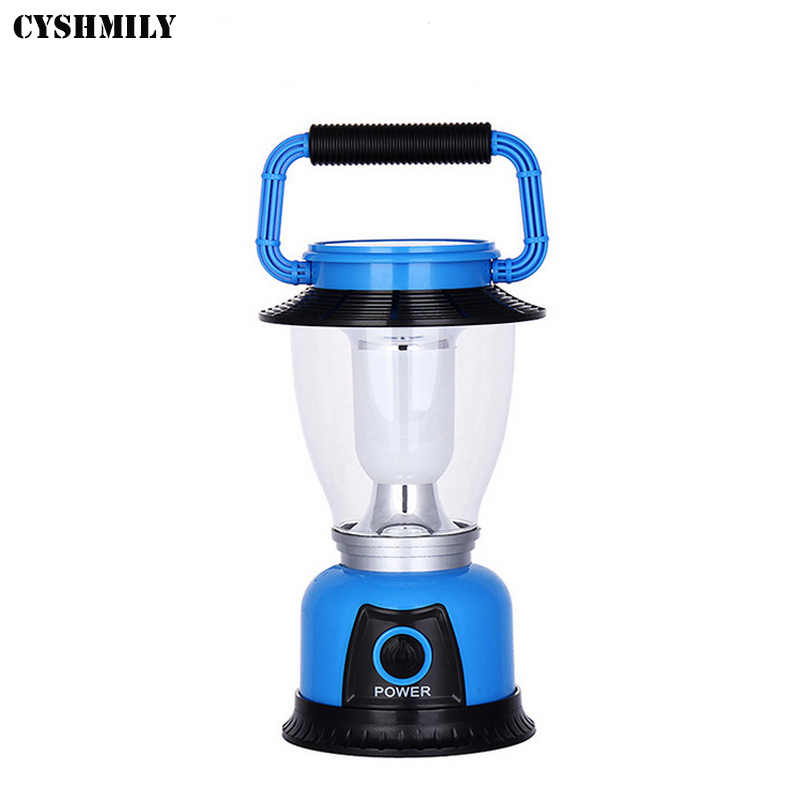 CYSHMILY High Quality Outdoor Emergency Solar Plastic 6 LED 3*AA Led Camping Lantern Light