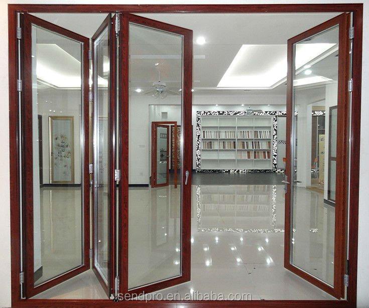 In legno color alluminio balcone porte a libro, lowe vetro porta a soffietto produttore-Porta-Id ...