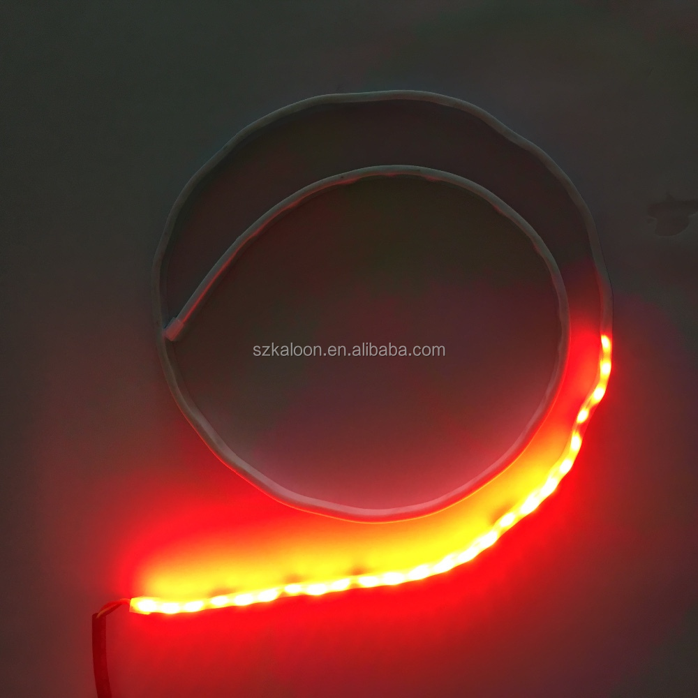 Car Rear Tail Box Lights Flow Turn Signal Brake LED Lamp Strip Waterproof