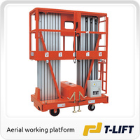 double mast man lift truck
