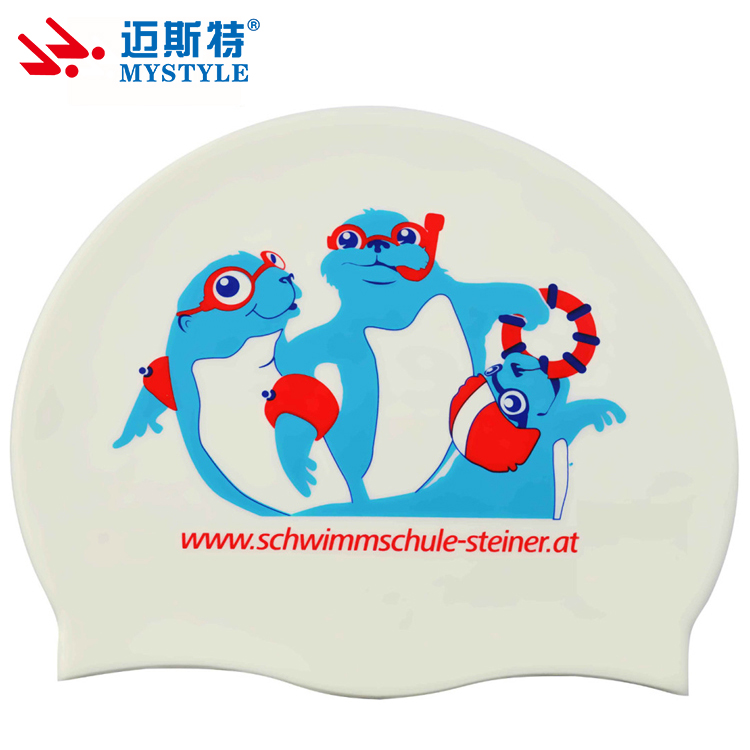 Swiming supplies silicone swim caps in water sports