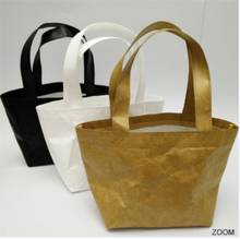 New style modern china wholesale women craft paper fabric women shopping shoulder tote bags