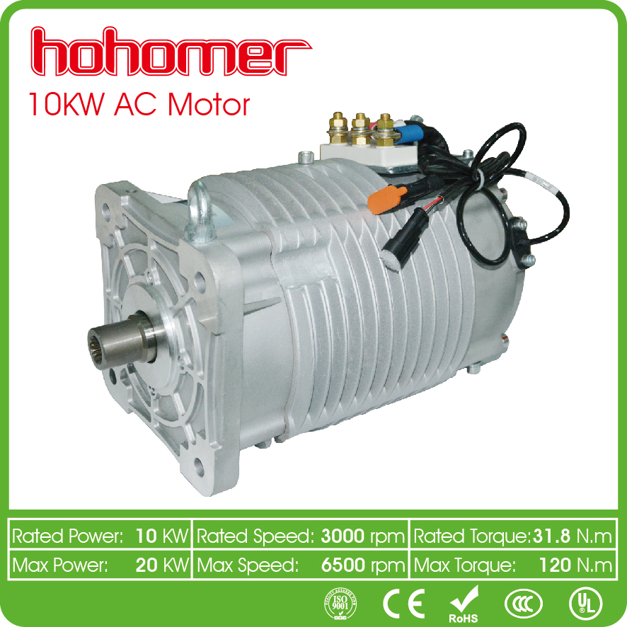10KW High Quality High Cheap power 3 Phase Electric Car AC Motor For Electric Cars