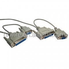 DB9 DB25 Serial Data Transfer Null Modem Cable 01951