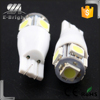 t10 led,Interior Lamp Type and 12V or 24V,12V Voltage t10 5050 smd 5 led car light blub