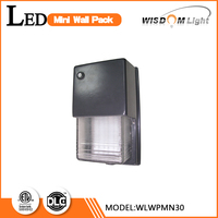 Cast aluminum backplate outdoor led wall light