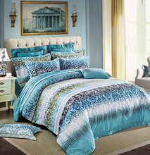 Luxurious high quality reversible printed pure eygptian cotton comforter sets for home decoration