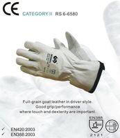 RS SAFETY Chromed natural goat leather rigger gloves and protective Working safety gloves