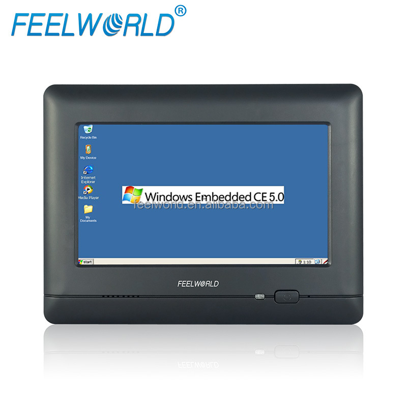 "7"" embedded industrial grade cheap WinCE/Linux all in one touch pc wholesale China"