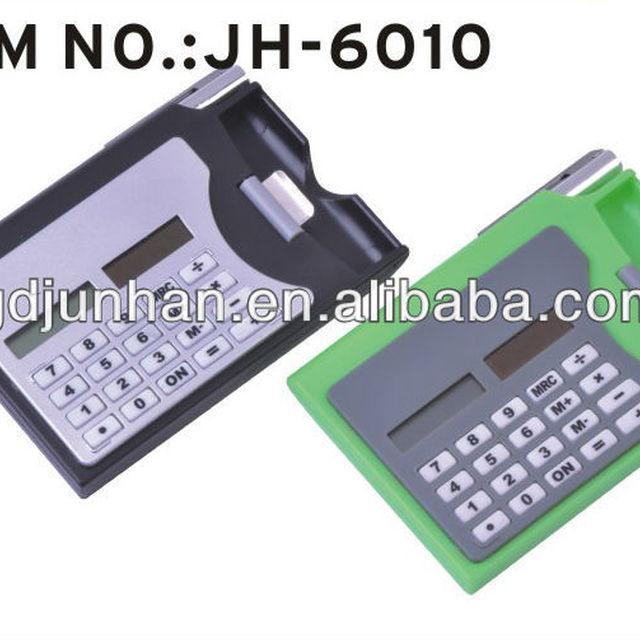 JH6010 pocket 8 digital electronic business card holder calculator
