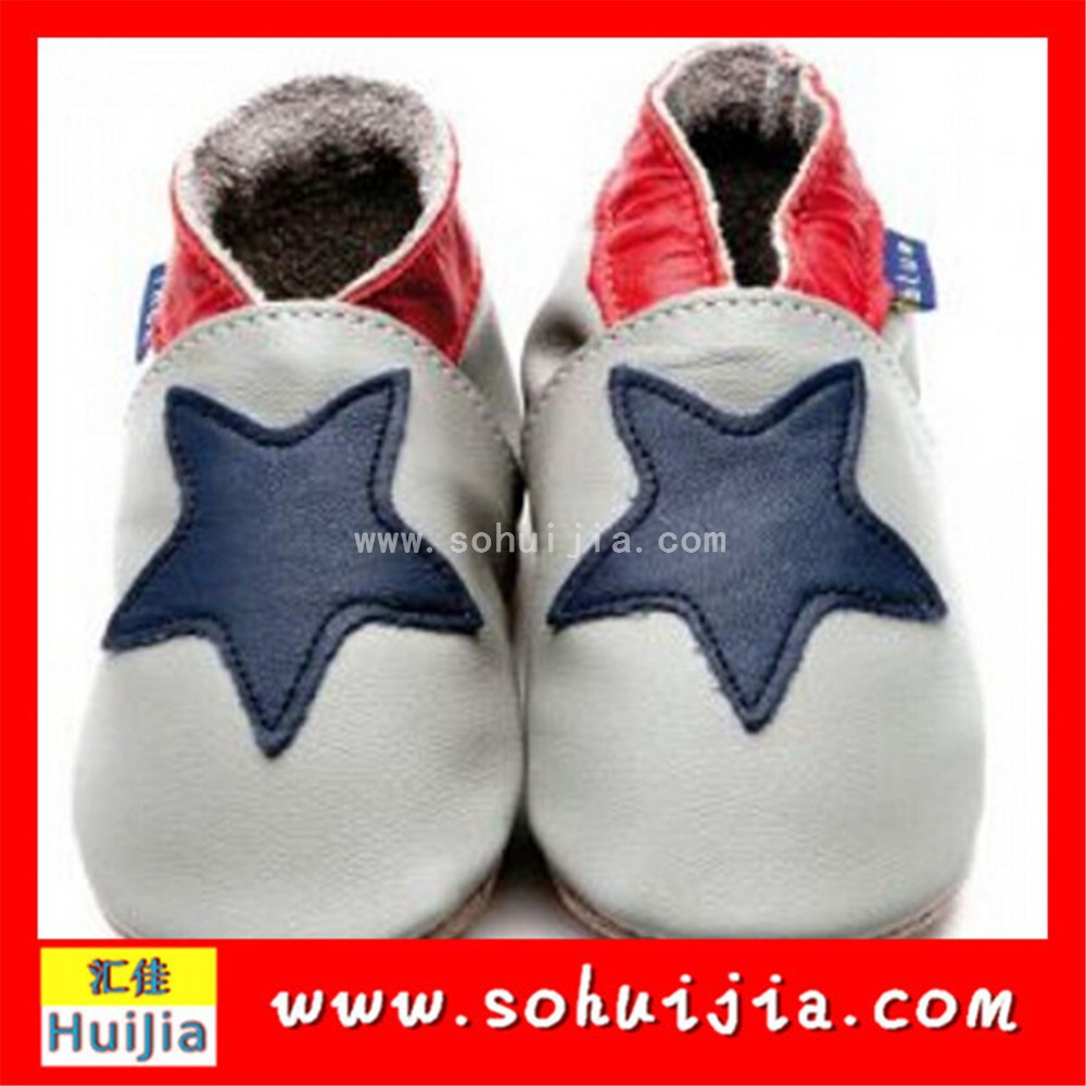 Wholesale new style star sheepskin flat embroidered new products baby for boy shoes