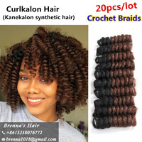 20Roots Curlkalon Crochet Hair 1 pack/Lot Klassy Kinks small Carrie Curl 10 inch Crochet Braids Hair Extension For Black