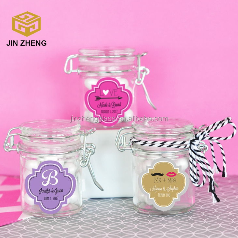 Round Hermetic Spice Glass Jars/bottles with Flip Top