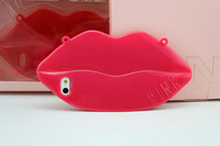 Low MOQ sexy lip shape tpu case for iphone 5