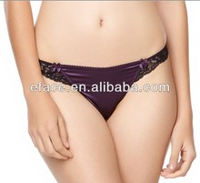 lace and satin meture women hipster panty