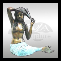 casting european classical bronze mermaid fountain