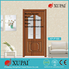 Turkey Style Apartment Pvc Laminated Coated Mdf Panel Fir Wood Finger Jointed Painted Toilet Bathroom Glass Inetrior Doors