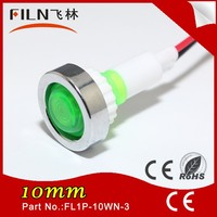 10MM Dia Plastic Cable 12v Green lighting pilot light For coffee machine