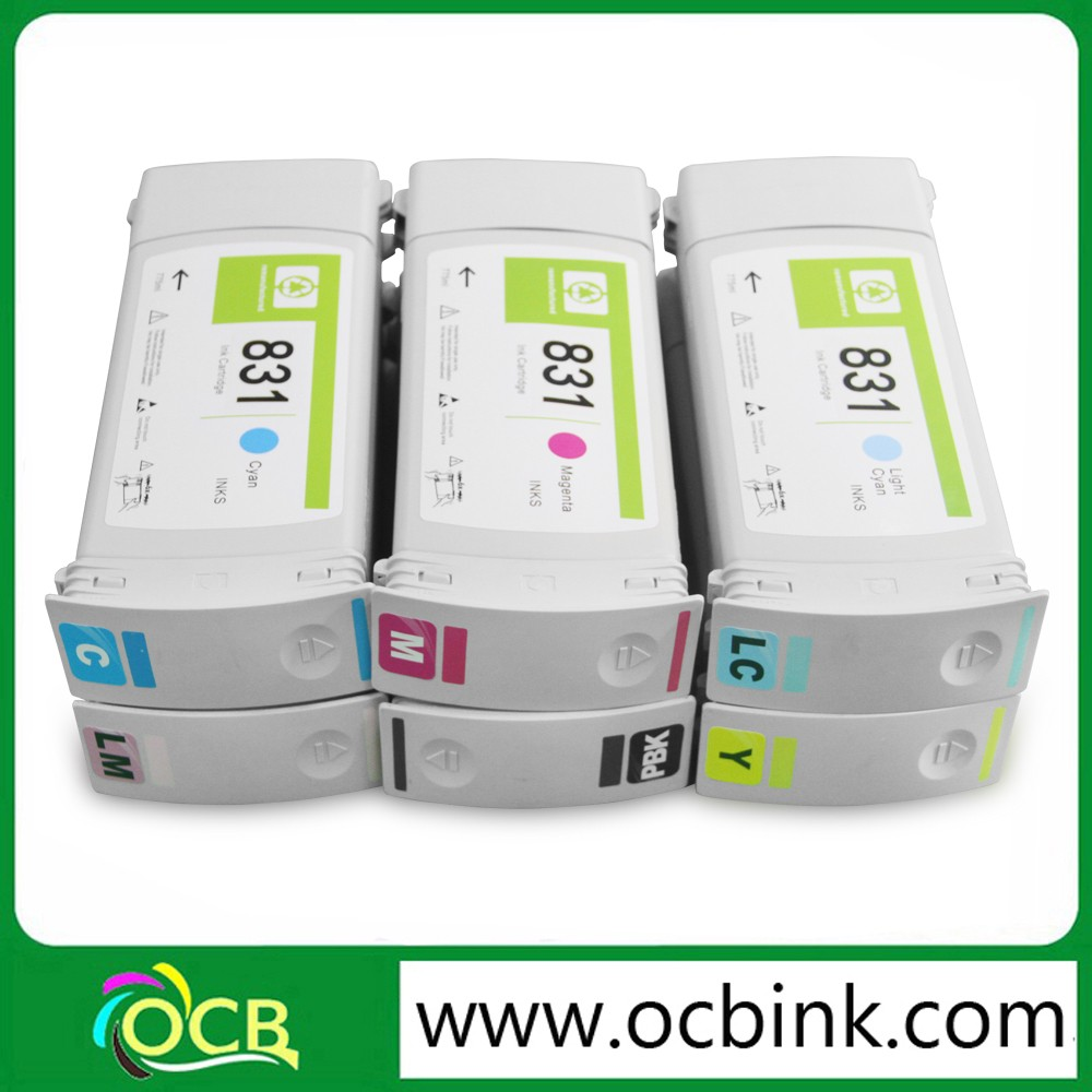 Ocbestjet Remanufactured For HP Latex HP Latex 300 310 330 360 370 Inkjet Printer 831 Recycle Ink Cartridges