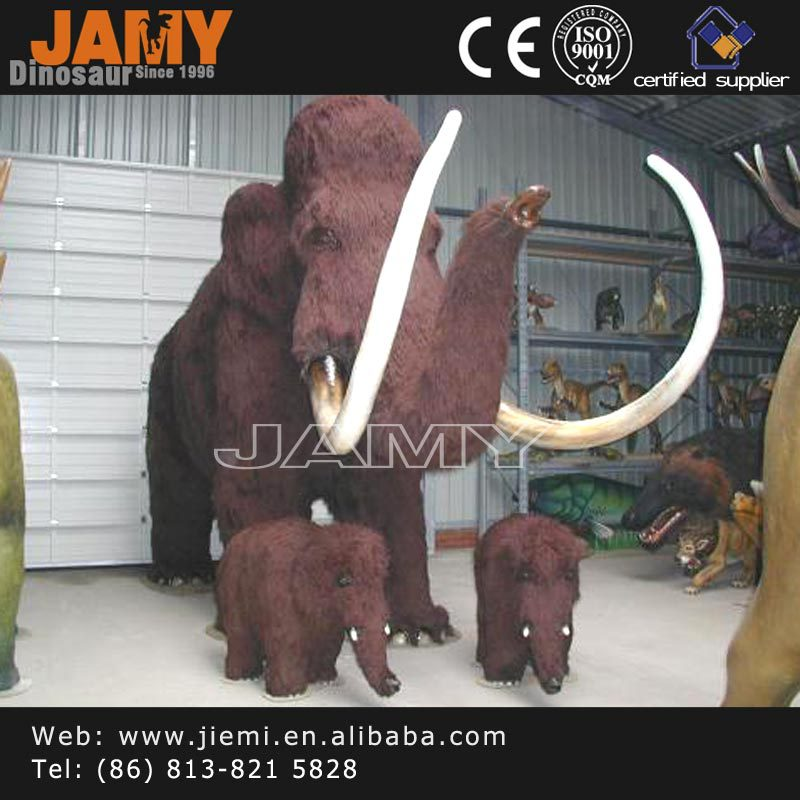 Customized Sculpture Animatronic Animal Life Size Mammoth for Outdoor