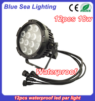 hot 12pcs 18w rgbwa uv 6in1china led par cans or star shaped led lights